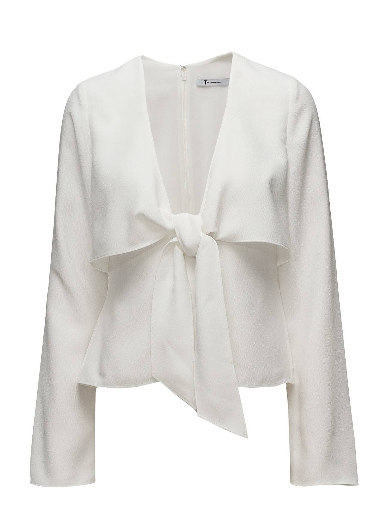 T by Alexander Wang L/S Tie Front Shirt