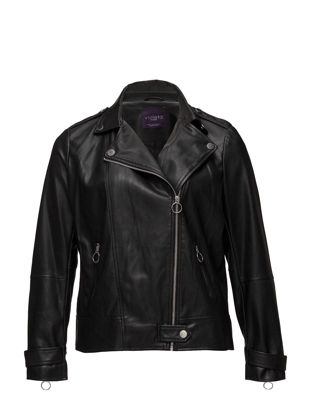 Violeta by Mango Zipped Biker Jacket