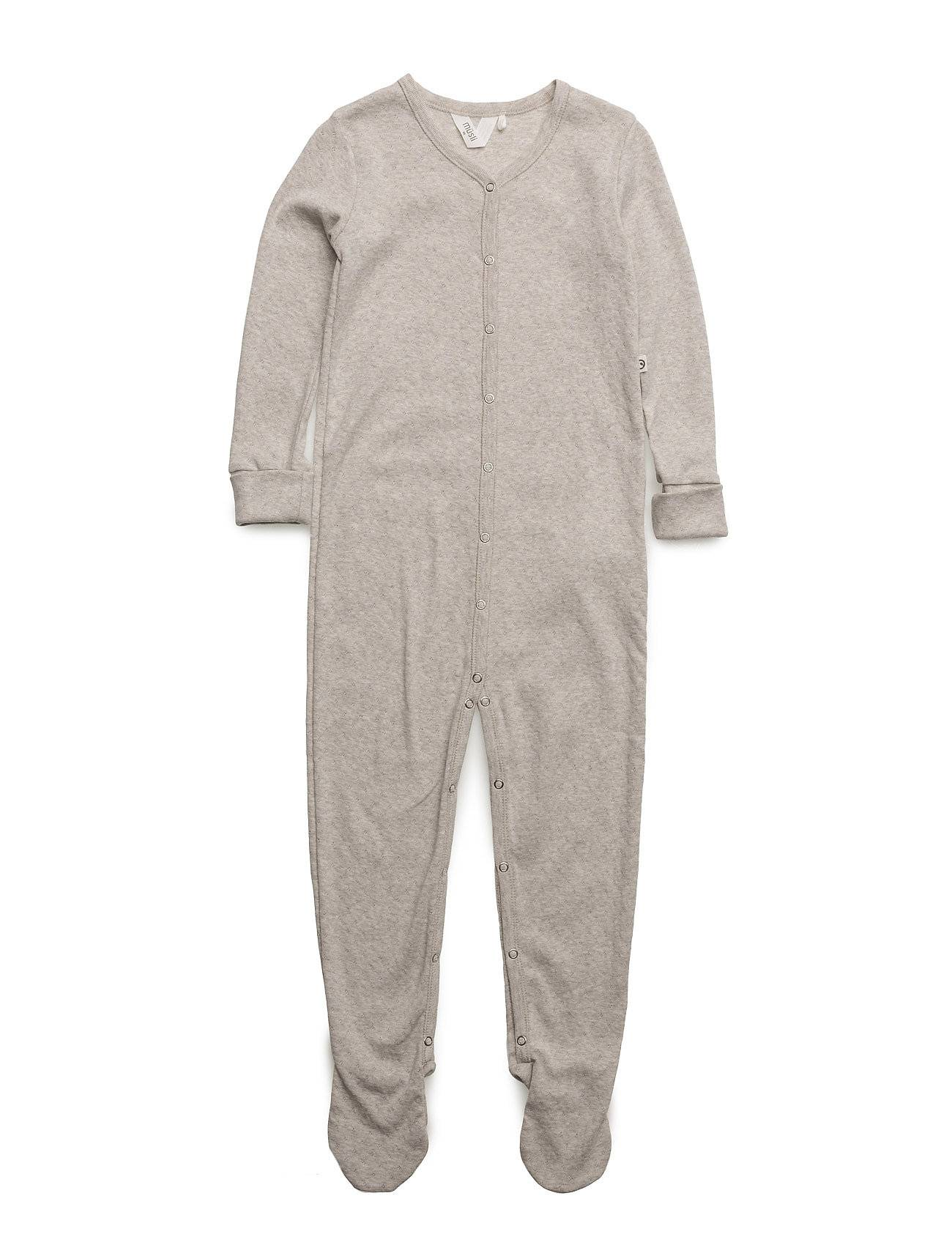 Müsli by Green Cotton Bedtime Bodysuit W. Feet