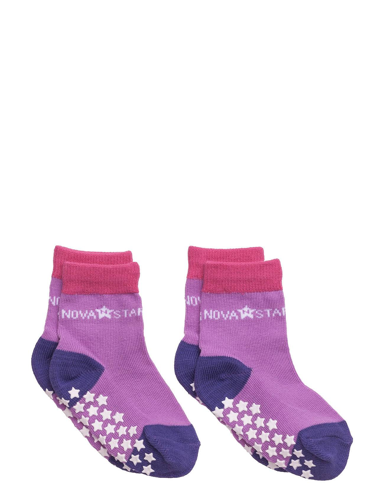 NOVA STAR Anti-Slip Purple Socks