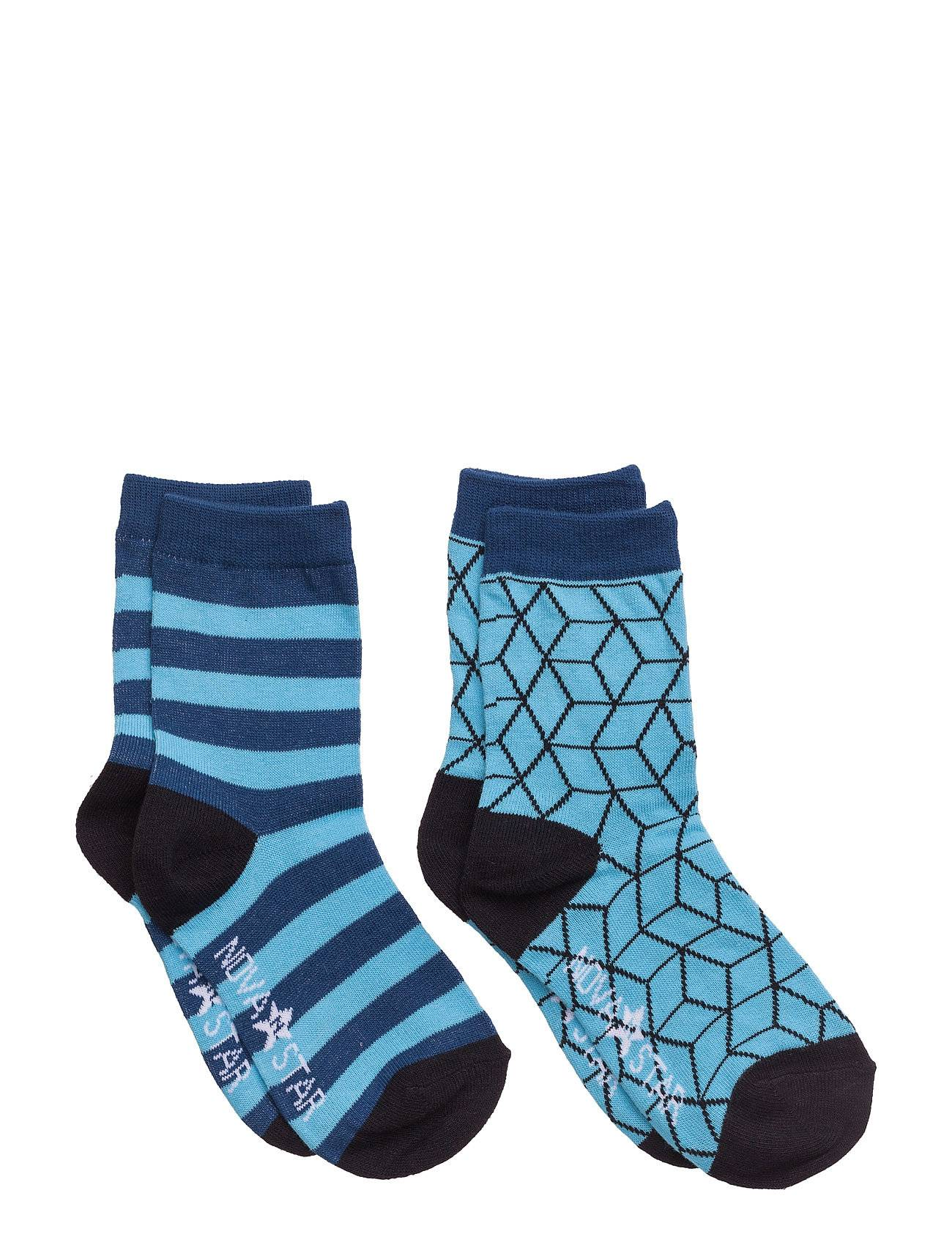 NOVA STAR Blue Cube Socks