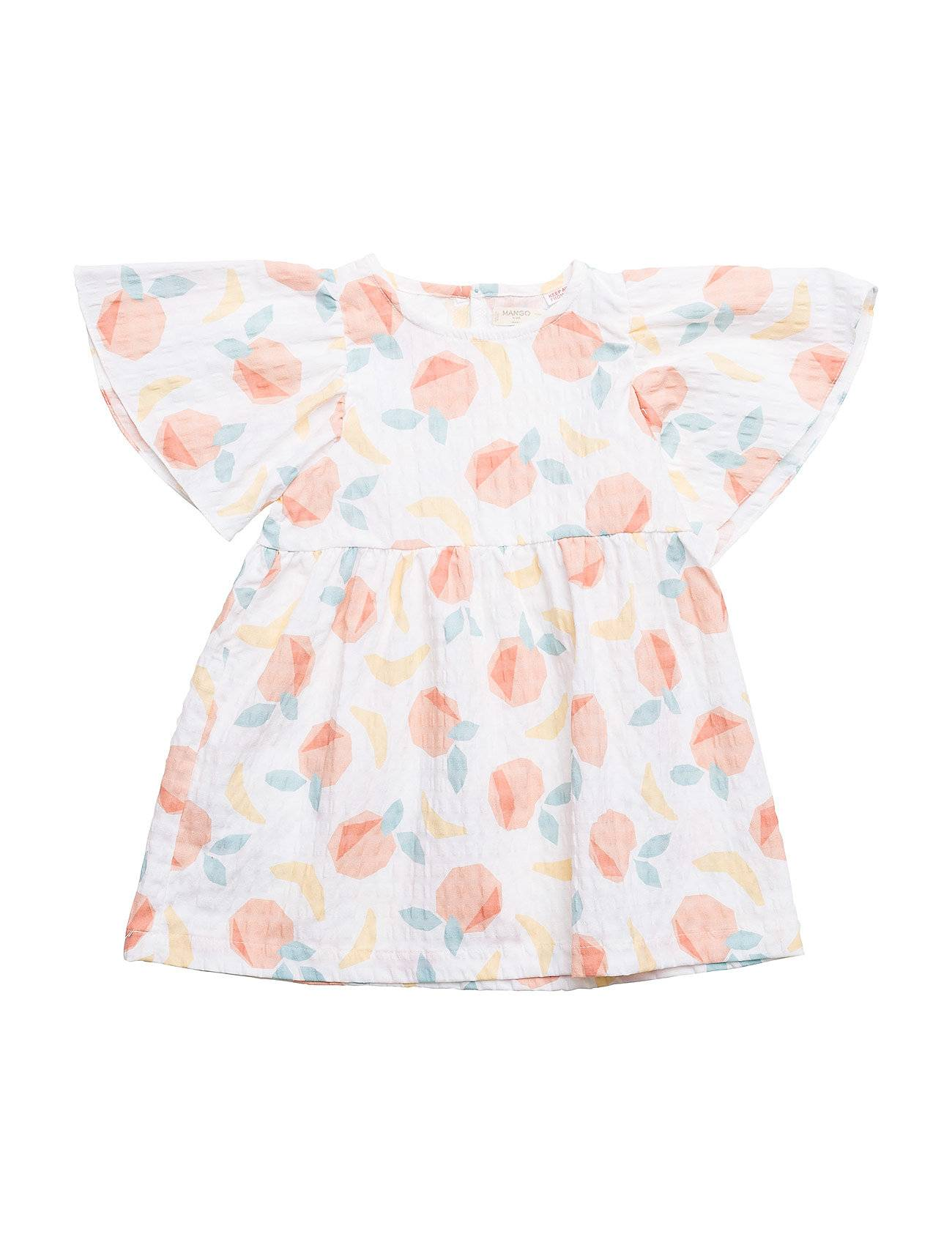 Mango Kids Fruits Printed Dress