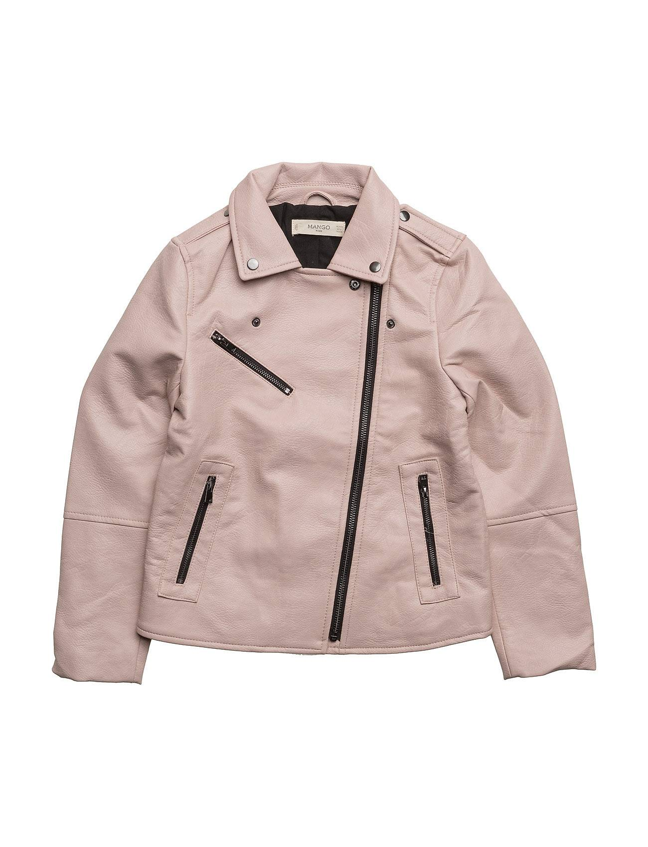 Mango Kids Zipped Biker Jacket