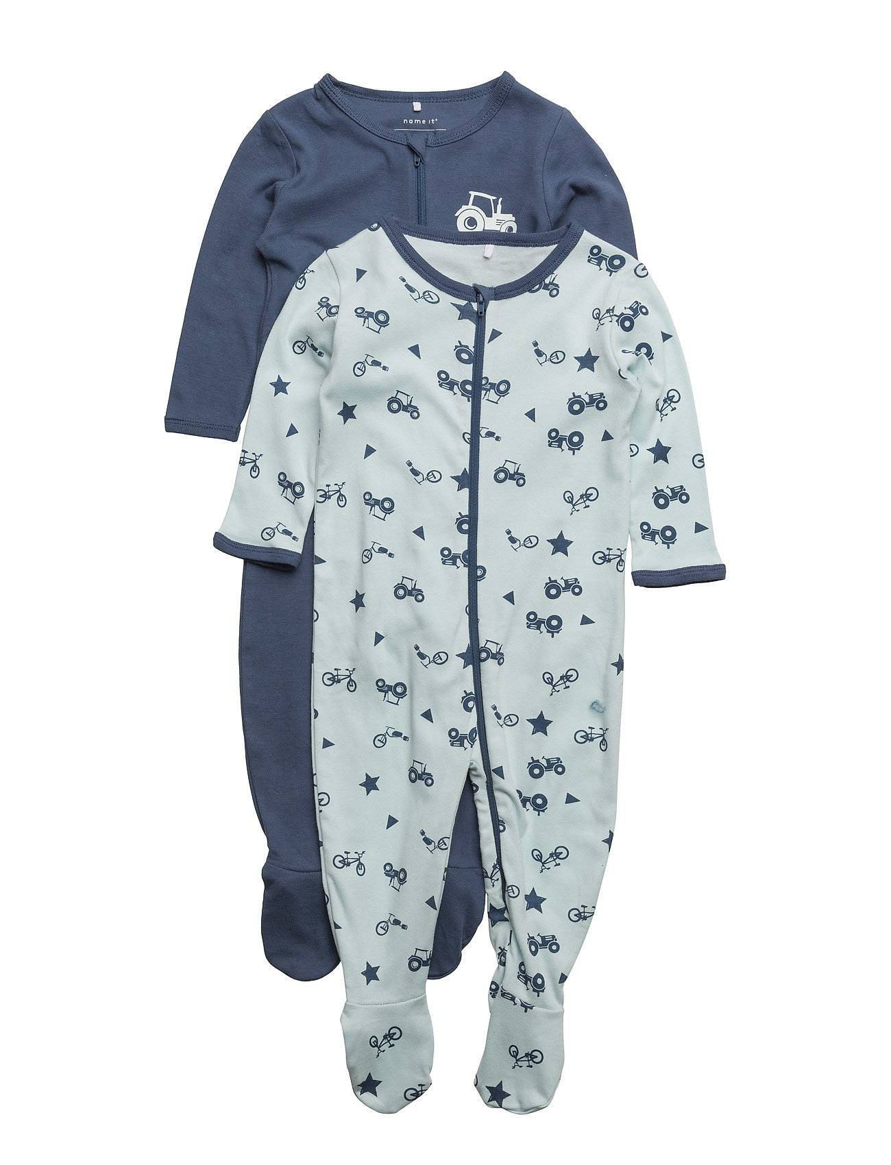 name it Nbmnightsuit 2p Zip W/F Ensign Blue Noos