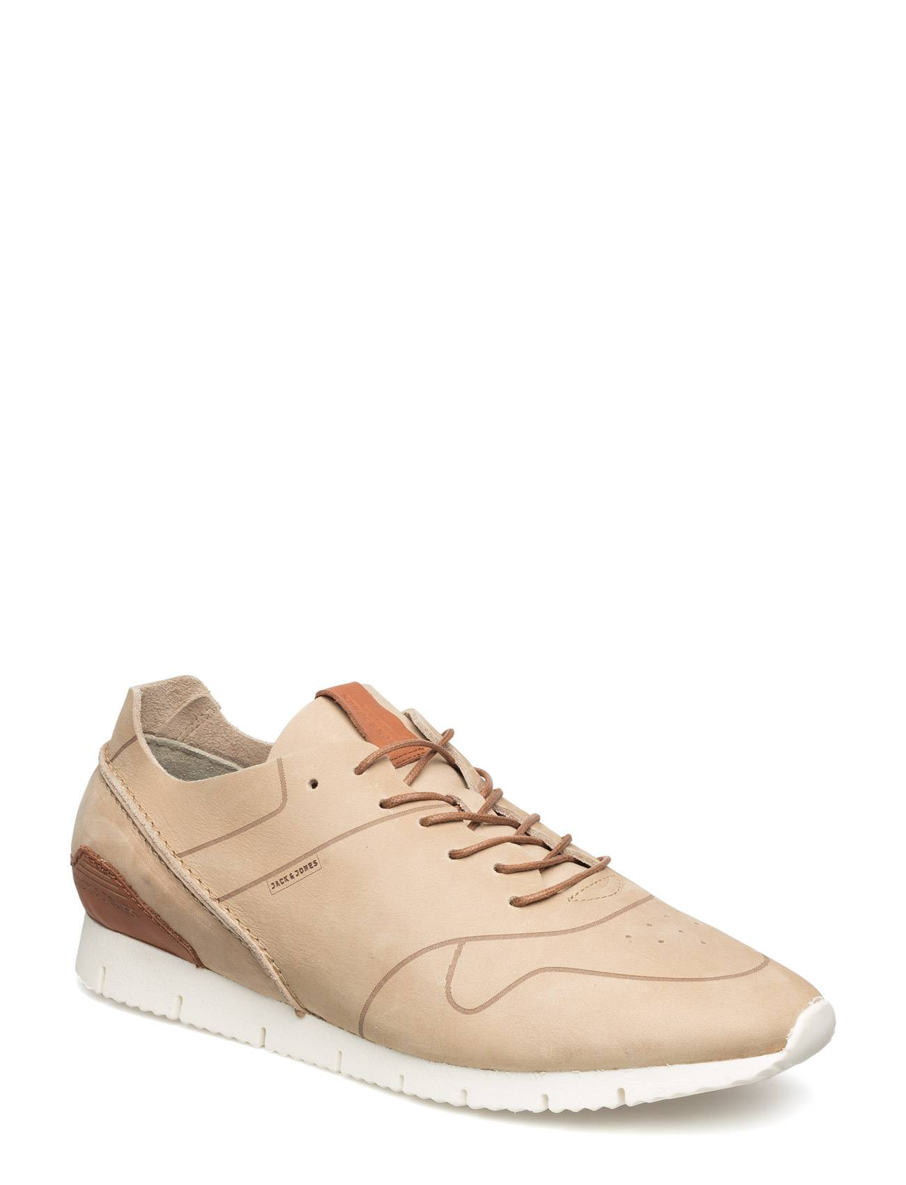 Jack & Jones Jjrobson Leather Sneaker Plaza Taupe