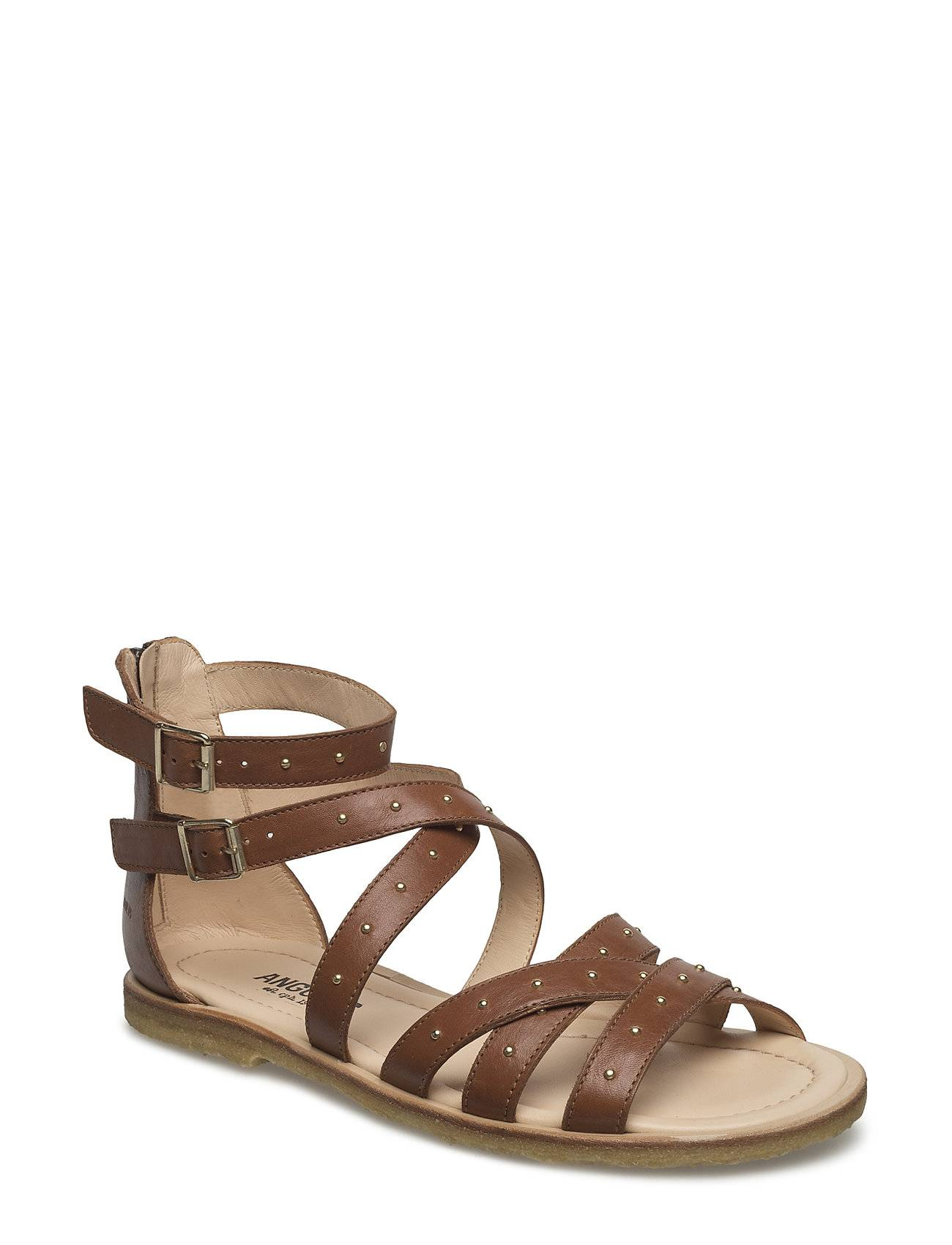 ANGULUS Sandal With Buckles, Zipper And Rivets