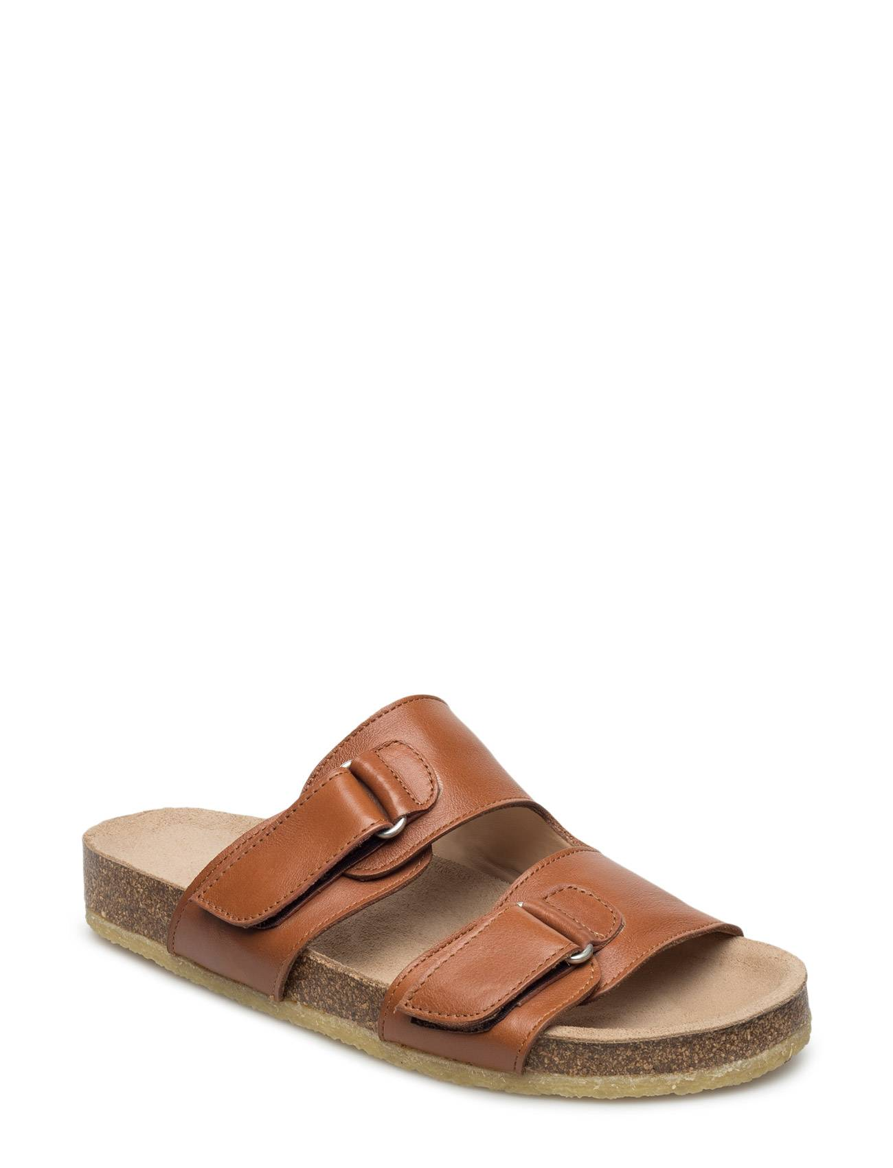 ANGULUS Footbed Sandal With Velcro Straps