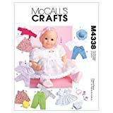 McCall's Patterns M4338 All Sizes Baby Doll Clothes, Pack of 1, White