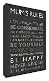 ART Feel Good Art Gallery Wrapped Box Canvas with Solid Front Panel (30 x 20 x 4 cm, Small, Black and Cream, Mum