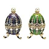Design Toscano The Bogdana Collection Faberge-Style Enamelled Eggs - Veronika and Valentina