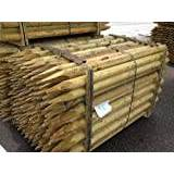 Suregreen Fencing Stake 1.65m x 75mm dia.(5 pack),Fence Post, Tanalised wood tree stake