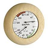 TFA-Dostmann Blooming Weather 40.102800000000002 Sauna Thermometer and Hygrometer - Wood