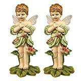 Design Toscano Gertie, the English Flower Fairy Statue - Set of 2