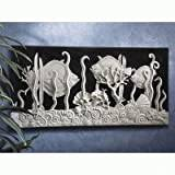 Design Toscano Aquarium in Black and White Wall Frieze