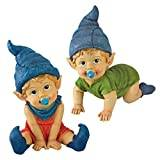 Design Toscano Archibald and Blaze the Baby Gnome Statues