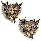 Design Toscano the Dark Valentine Wall Sculpture - Set of 2