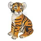 Design Toscano the Grand-Scale Wildlife Animal Collection, Sitting Tiger Cub Statue