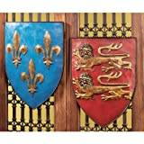 Design Toscano Grand Arms of France Wall Shield Collection- Set of 2