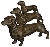 Design Toscano Stacked Hot Dogs Dachshund Cast Iron Statue