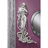Design Toscano Flora, Goddess of Springtime Wall Sculpture - Set of 2
