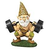 Design Toscano Atlas, the Athletic Weightlifting Gnome Statue - Set of 2
