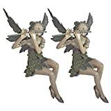 Design Toscano Fairy of the West Wind Sitting Sculpture - Set of 2