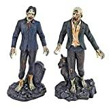 Design Toscano Dead Walking Zombie Statue Collection - Zombie with Tombstone and Zombie with Wolf