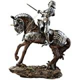 Design Toscano Knights of Blenheim Palace - Silver Knight Sculpture