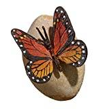 Design Toscano Viceroy Monarch Butterfly on Rock Statue