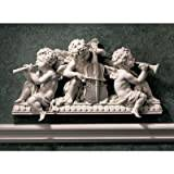 Design Toscano Angelic Notes Sculptural Wall Pediment - Set of 2