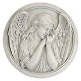 Design Toscano Thoughts of an Angel Sculptural Wall Roundel