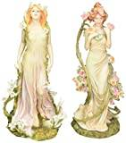 Design Toscano Spirit of Spring Flower Twins Statues - Fleurs du Printemps and Fleur d