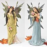 Design Toscano The Forest Fairies Sculpture Collection - Moss Fairy and Skye Fairy
