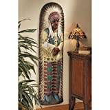 Design Toscano Chief Lone Raven Replica Turn-of-the-Century Advertising Wall Sculpture