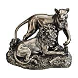 Design Toscano Lion and Lioness Pride of Place Animal Statue