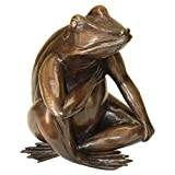 Design Toscano Forever in My Heart with Frog Cast Bronze Garden Statue