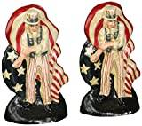 Design Toscano Fighting Uncle Sam Cast Iron Bookend and Doorstop Sculpture - Set of 2