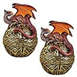 Design Toscano Shield of the Celtic Orb Dragon Statue - Set of 2