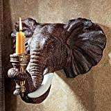 Design Toscano Elephant Wall Sconce - Set of 2