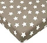 Briljant baby Fitted Sheet, 100% Cotton 60 x 120 cm Bjorn