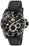 Seiko Kinetic Unisex Analogue Watch with Black Dial Analogue Display - SNP089P1