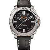 Boss Hugo Boss Orange Mens Quartz Watch, Analogue Classic Display and Leather Strap 1513295