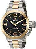 TW Steel Canteen Unisex Quartz Watch with Black Dial Analogue Display and Silver Stainless Steel Bracelet CB41