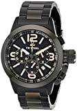 Tw Steel Canteen - Kelly Rowland Edition Unisex Quartz Watch with Black Dial Chronograph Display and Black Stainless Steel Plated Bracelet TW312