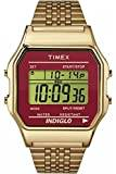Timex Unisex T80 Classic Quartz Watch with Grey Dial and Gold Stainless Steel Bracelet TW2P48500