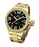 TW Steel Canteen Unisex Automatic Watch with Black Dial Analogue Display and Silver Rose Gold Bracelet CB96