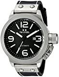 TW Steel Canteen Leather  Automatic Watch with Black Dial Analogue Display and Black Leather Strap CS6