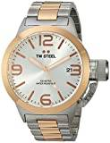 TW Steel Canteen Unisex Quartz Watch with Silver Dial Analogue Display and Silver Stainless Steel Bracelet CB121