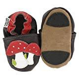 Hobea Germany First-Step Baby Shoes (Size : 24/25, 24 to 30 Months, Mushrooms Design)