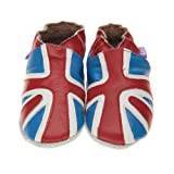 Pre Shoes Soft Leather Baby Shoes Union Jack (Blue/ Small)